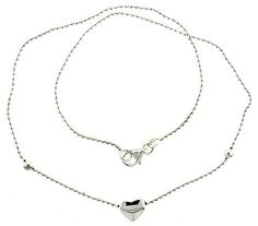 Sterling Silver Necklace with a Heart Slide 17 ** Continue to the product at the image link.(This is an Amazon affiliate link and I receive a commission for the sales)