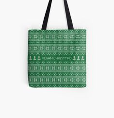 Promote   Redbubble Vegan Christmas, Promotion, Reusable Tote Bags