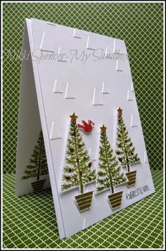 Card by Nikki Spencer  (082114)  [Stampin' Up!  (e/f) On Point; (stamps) Festival of Trees]