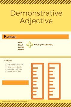 Pengertian dan Perbedaan Demonstrative Adjective dan Desmonstrative Pronoun