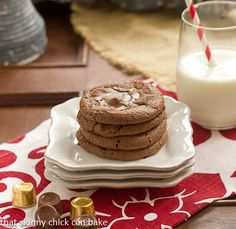 Rolo Brownie Cookies | Outrageously delicious!!! http://www.thatskinnychickcanbake.com/2013/11/rolo-brownie-cookies-cookieweek.html