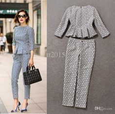 If you wore pants. Ankle length suiting pant with sleeve peplum top Look Fashion, Fashion Pants, Hijab Fashion, Fashion Dresses, Fashion Design, Mode Outfits, Office Outfits, Classy Outfits, Chic Outfits