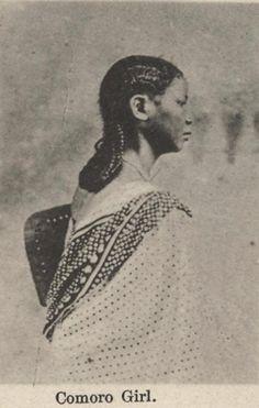 Comoro Girl.  The Comoro community was an  important minority in old Zanzibar
