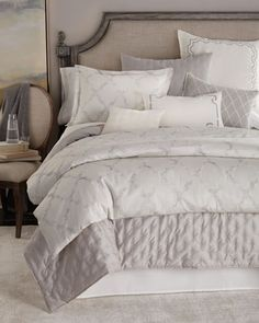 Fretwork+Bedding+by+Vera+Wang+at+Horchow.