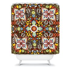 Khristian A Howell Wanderlust Shower Curtain #fall #color #home #decor #bath #bathroom