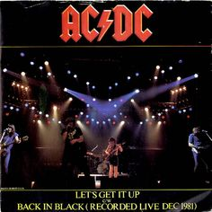 """For Sale -AC/DC Let's Get It Up UK  7"""" vinyl single (7 inch record)- See this and 250,000 other rare and vintage records & CDs at http://eil.com/"""