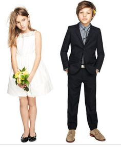 JCrew flower girl and ring bearer outfits for a fall wedding