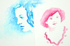 DIY Watercolor Portraits from a Photograph | Photojojo