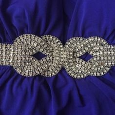 Formal Royal Blue & Silver Dress Floor length • Worn once • Ties at neck • Beautiful royal blue color with an intricate silver design under bust • Missing 2 rhinestones (could be an easy fix & is not noticeable when wearing!) XOXO Dresses Prom