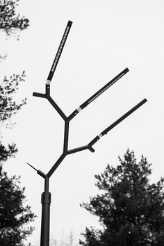 branch street lighting by keha3 imitates crowns of pine trees