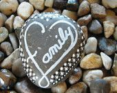 Family Heart Painted Rock Art