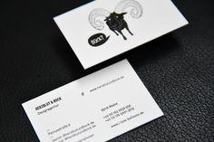 Vorder- und Rückseite der Visitenkarten für Herzblut & Bock // Back and front of the Businesscards for Herzblut & Bock #letterpressbusinesscards #letterpressonline #letterpresso