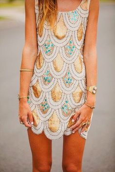 Scalloped dress.