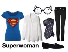 Put together this Halloween Costume; superwoman doesn't have to be half naked to be cute!