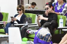 Double pampering session: Lisa Rinna, 54, and her 16-year-old daughter Amelia Gray Hamlin paid a mommy and me visit to a nail salon in Beverly Hills on Monday