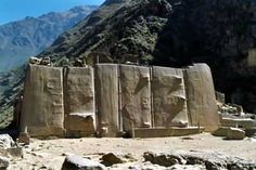 Ollantaytambo. One of the World's great mysteries. These stones have zero marks or scratches, therefore scientist can't explain the technology that made such precise and laser-like cuts.