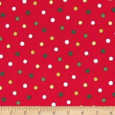 Christmas Polka Dot Fabric Riley Blake Red And By
