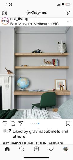 House Tours, Floating Shelves, Bookcase, Bedroom, Home Decor, Decoration Home, Room Decor, Wall Storage Shelves, Bed Room