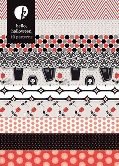 Hello, Halloween Patterned Papers (Set 2)
