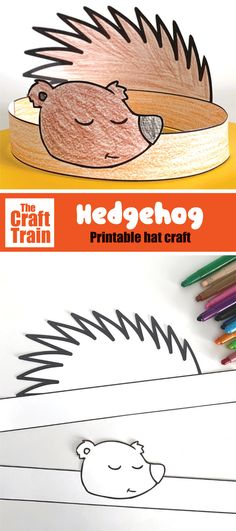 Printable template to create a cute hedgehog hat from paper. This is a fun kids craft perfect for Autumn or Fall and so easy to make – simple print, colour and glue #hedgehog #kidscraft #printablecraft #hedgehogcraft #woodlandanimals #fallcraft #fall #animalcrafts #papercrafts #freeprintables #thecrafttrain Animal Crafts For Kids, Paper Crafts For Kids, Easy Crafts For Kids, Craft Activities For Kids, Activity Ideas, Hedgehog Craft, Hat Crafts, Simple Prints, Printable Crafts