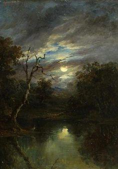 Moonlit Landscape, John of Ipswich Moore (British, 1820-1902)