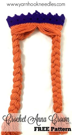 Frozen Anna Crown with Hair – FREE Pattern – Yarn|Hook|Needles | Yarn|Hook|Needles