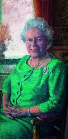 QUEEN ER II By Rolf Harris - Rolf paints our Queen beautifully 2005