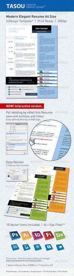 check our latest indesign resume template single page resume
