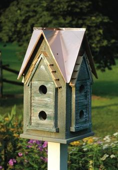 Copper Mansion Birdhouse – Fortune And Glory - Made in USA Gifts