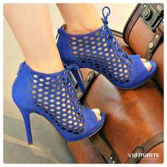 azul bic - heels - salto alto - party shoes - Ref. 14-15903 - verão 2015