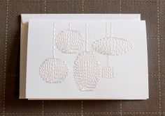 Nelson bubble lamps stitched card by  Stitched Cards.