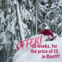 ENDS 15th JUNE 2021!! Ski And Snowboard, Snowboarding, Skiing, Ski Canada, Alpine Lodge, Sunshine Village, Free In, Banff, Life Is Good