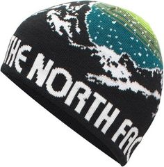 The North Face Anders Reversible Beanie - TNF Black/Chive Green