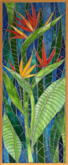 Jean Loney Mosaics More - Gartenkunst Mosaic Artwork, Mosaic Wall Art, Mirror Mosaic, Mosaic Glass, Glass Art, Sea Glass, Stained Glass Birds, Stained Glass Panels, Stained Glass Patterns