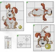 cross stitch dog