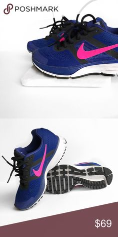 Nike pink blue sneakers Love these! Dress them up or down! Only worn a few times. No trades. Always open to offers. All photos are of actual item Nike Shoes Sneakers