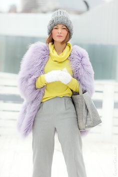furla bag, galant girl, lama fur coat,