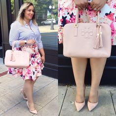 Plus Size Fashion - beauticurve - | Skirt @lanebryant | Top @tjmaxx | Bag @toryburch | Pumps @ninewest