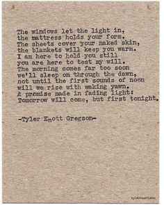 Typewriter Series #959 by Tyler Knott Gregson *It's official, my book, Chasers of the Light, is out! You can order it through Amazon, Barnes and Noble, IndieBound , Books-A-Million , Paper Source or Anthropologie *
