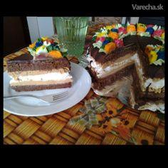 Čokoládovo-snehová torta s karamelovým krémom - Recept