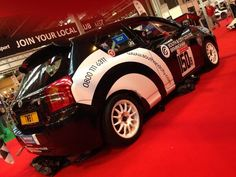 """Well presented Corolla rally car on the South & City College Birmingham stand. Rally Car, Embedded Image Permalink, Monster Trucks, Race Cars"