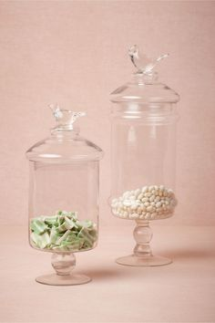 Glass Swallow Confection Jars from BHLDN
