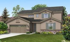 The Aurora   Plan 2441, TWO story home!
