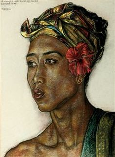 rudolf bonnet-Portrait of Anak Agung Gde Tjukit
