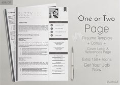 Resume Resume Instant Download  Resume Design Template  Microsoft Word Editable .