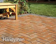 Besides decks, you can also cover a concrete patio with pavers.