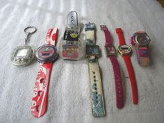 Mixed Lot Of 7 Kids Watches and Other