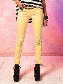Electric Garment Dying Long Pant   Ladies Clothing Online   Birdmotel