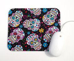 Sugar Skull Mouse Pad / Day of the Dead / Mini Calaveras / Office Home Decor