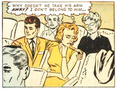 """Comic Girls Say.. """"Why doesn't he take his arm away ? i don't belong to him"""" #Vintage #Comic #PopArt"""
